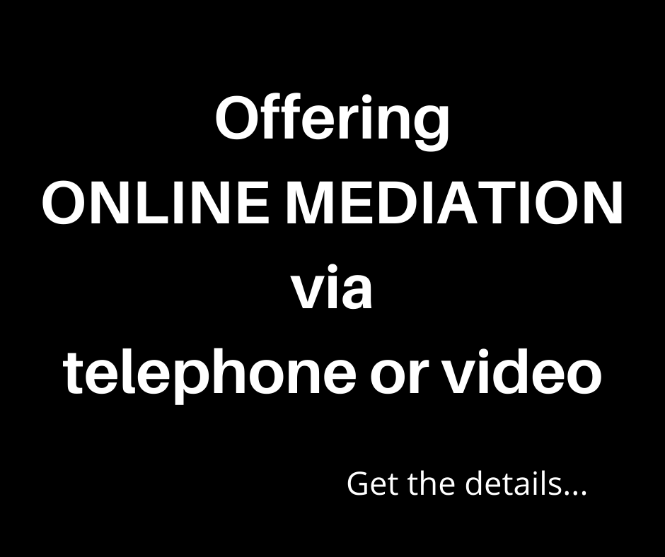 Offering online mediation via telephone or video